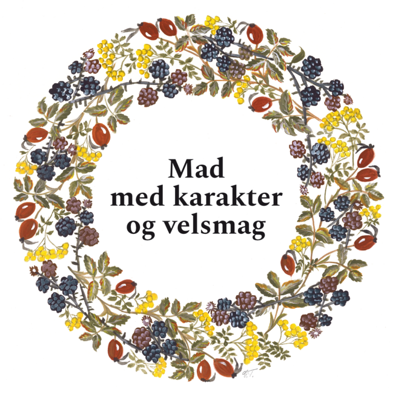Blomsterkrans, malet af Gerda Thomsen