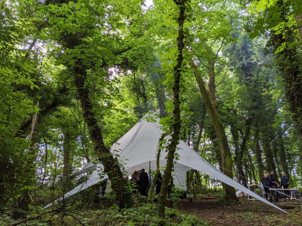 Telt i skoven